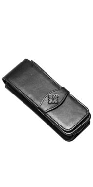 LEATHER POUCH • 3 PENS